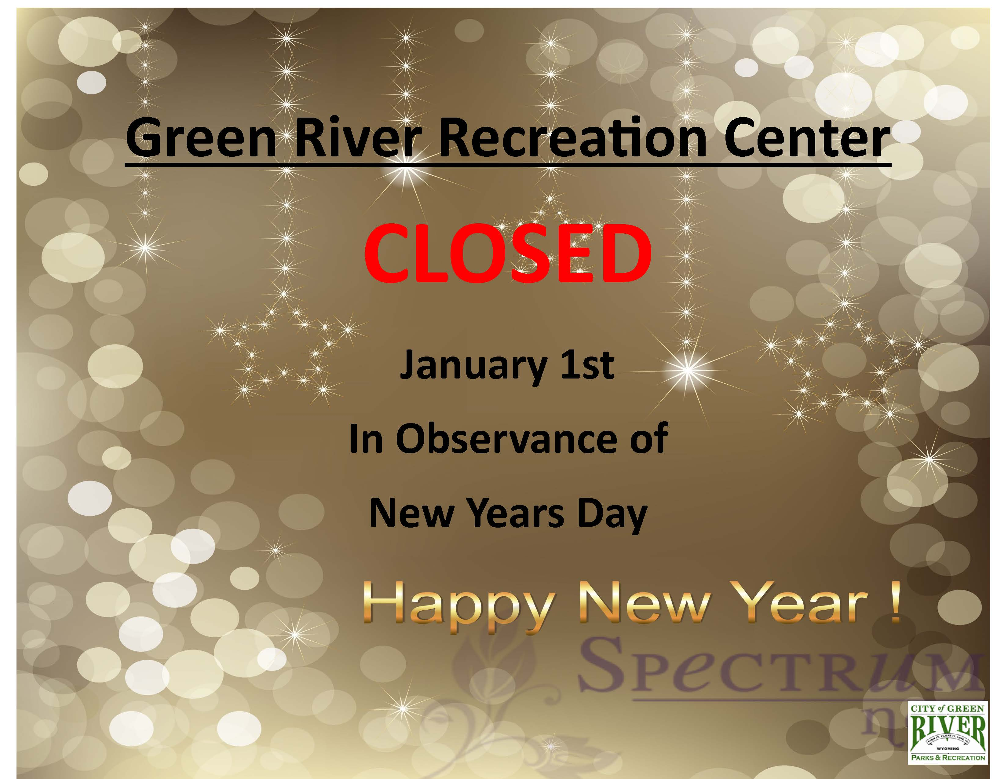 1 New Years Closure GENERAL